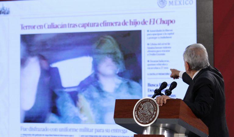 No recibimos instrucción de EUA en caso Culiacán: López Obrador