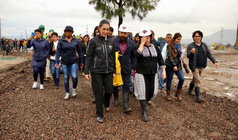 """""""Chapultepec de Iztapalapa"""" se construye con material reciclado: Sheinbaum"""