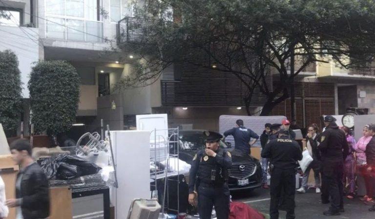 Desalojan a 17 familias de inmueble en la colonia Del Valle