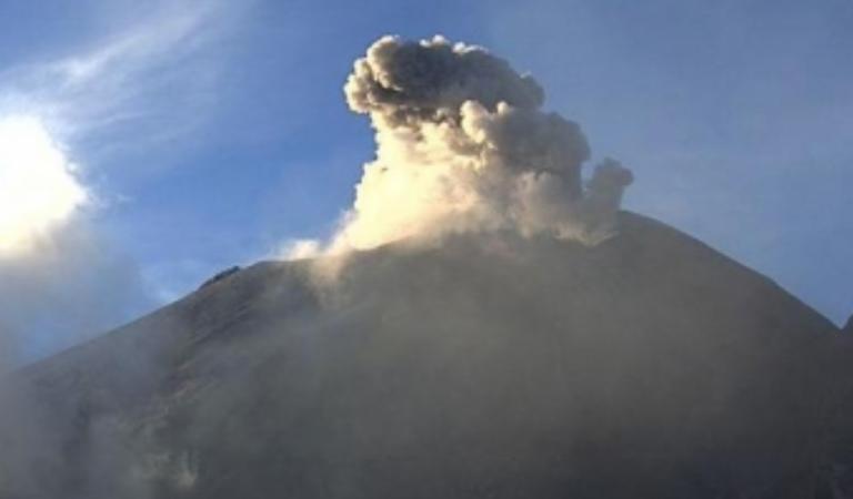 Popocatépetl emite 179 exhalaciones en 24 últimas horas