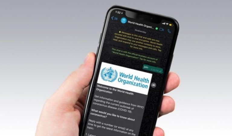 Cómo tener información de la OMS sobre COVID-19 en WhatsApp