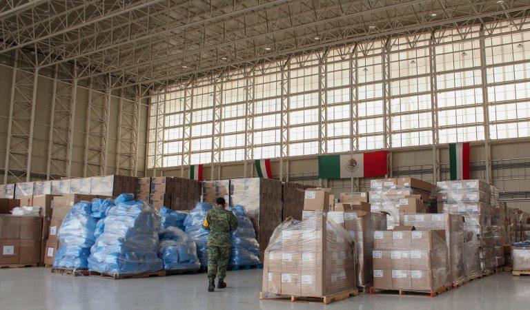 Habilitan hangar presidencial como centro de acopio Covid