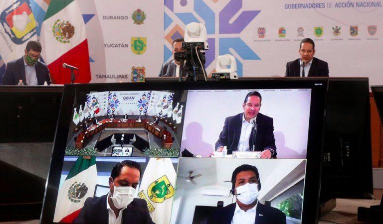 Gobernadores del PAN piden estrategia conjunta con gobierno federal ante COVID-19