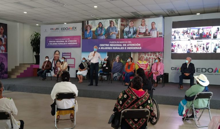 Alfredo del Mazo puso en marcha el Centro Regional de Atención a Mujeres Rurales e Indígenas