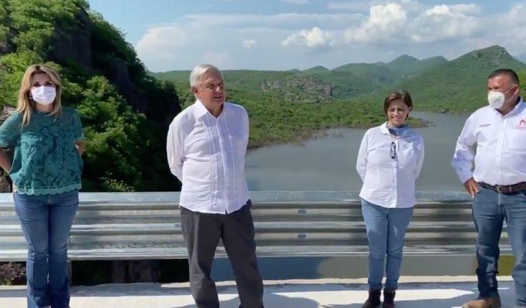 AMLO inaugura presa en Sonora y supervisa obra en Sinaloa