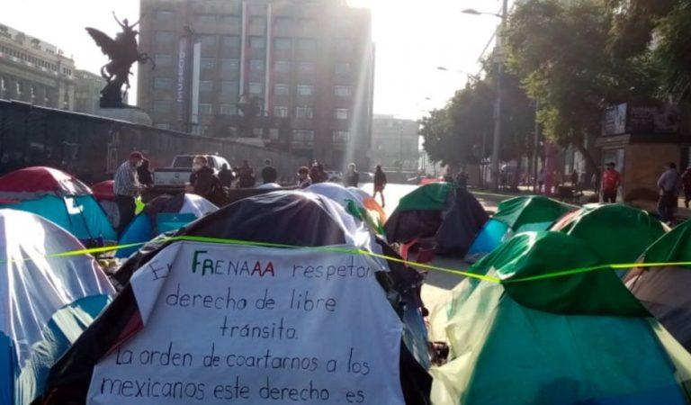 SSC retira vigilancia en plantón de integrantes de FRENAAA; manifestantes avanzarán hacia el Zócalo