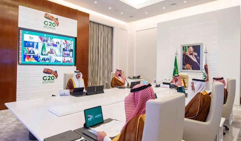 Comienza de forma virtual la cumbre del G20 desde Arabia Saudita