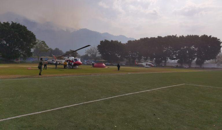 Reanudan combate a incendio forestal en Parque Nacional El Tepozteco