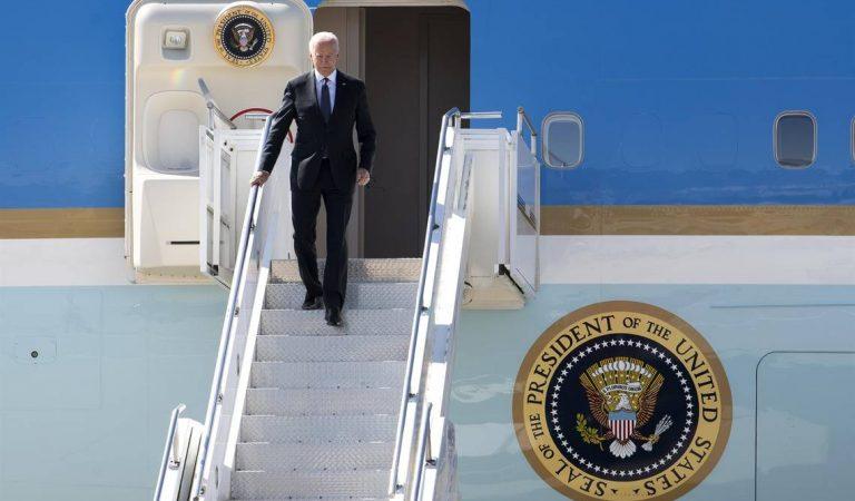 Biden llega a Ginebra, de cara a su primera cumbre con Putin