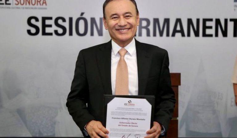 Recibe Alfonso Durazo su constancia como gobernador de Sonora