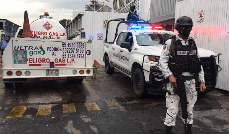 Elementos de la Guardia Nacional resguardan gaseras en CDMX y Edomex