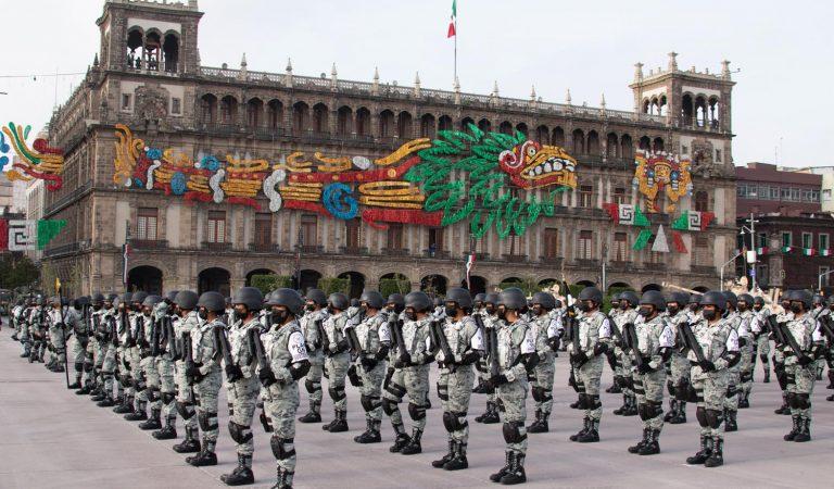 Participan 15 mil elementos del Ejército, Marina y GN en desfile militar