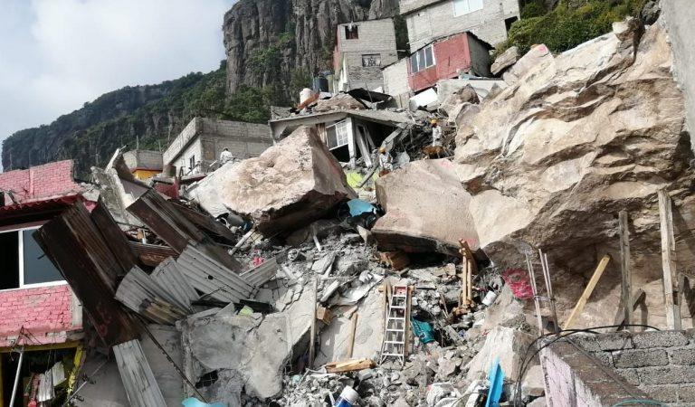 Demolerán once inmuebles en zona de derrumbe del Chiquihuite