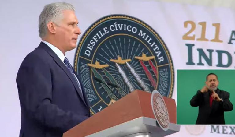 Presidente de Cuba, Miguel Díaz-Canel, llega a México; participará en festejos de Independencia