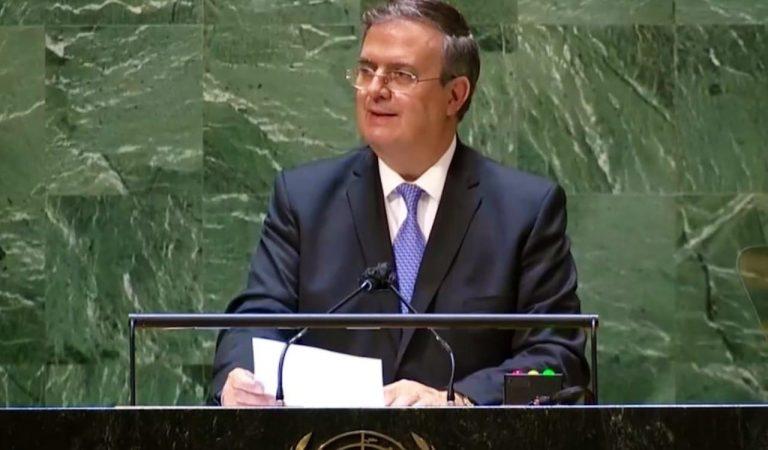 Marcelo Ebrard llama en la ONU a garantizar la distribución equitativa de vacunas