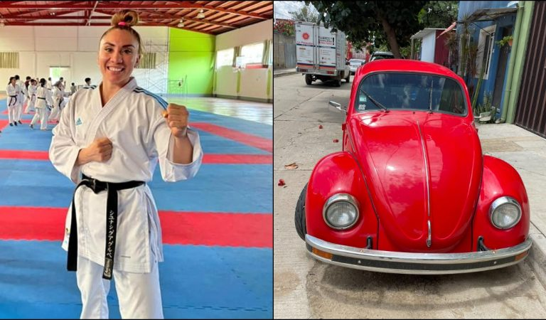 Atleta mexicana pone en venta su vocho para poder ir a Mundial de Karate