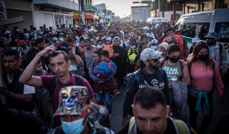 Avanza caravana migrante de Chiapas a la CDMX