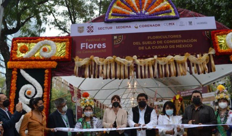 Inicia festival de flores de cempasúchil en Paseo de la Reforma